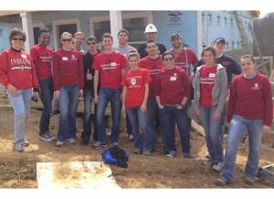 IU School of Medicine Habitat volunteers - a job well done!