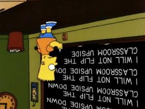 Fair use image of Bart Simpson.