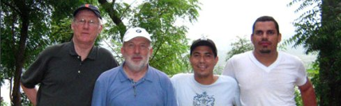 Bob Anthony (far left) in 2009, doing service work in Nicaragua with the organization Nicaragua-Direct.